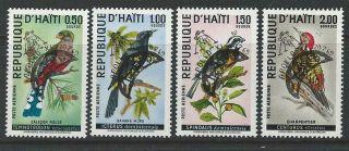 Haiti 1969 Sc 344a - 344d Birds photo