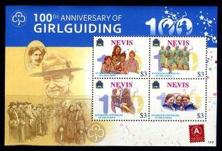 Nevis - 2010 100th Anniversary Of Girl Guiding Block photo
