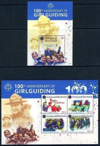 Antigua & Barbuda - 2010 100th Anniversary Of Girl Guiding Block Plus Sheetlet photo