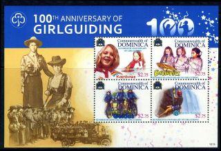 Commonwealth Of Dominica - 2010 100th Anniversary Of Girlguiding Block photo
