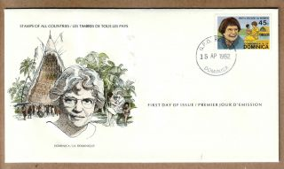 Fdc 1979 Dominica - Anthropologist Margaret Mead photo