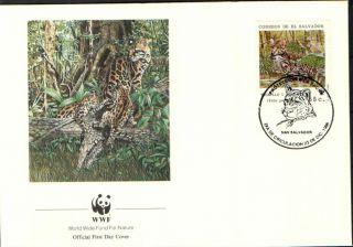 (23992) Fdc - El Savador - Tigrillo (tiger Cat) - 1988 photo