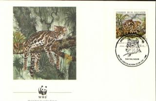 (23993) Fdc - El Savador - Tigrillo (tiger Cat) - 1988 photo
