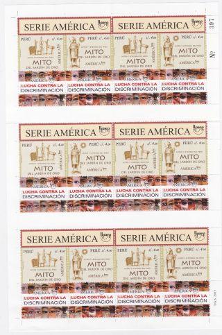 Peru 2013 Upaep Complete Sheet 2012 Y 2013 photo