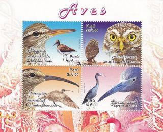 Peru 2009 Bird Souvenir Sheet photo