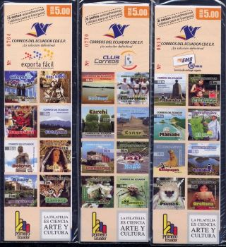 Ecuador 2009 Tourism Landscapes Booklets (3) Scott 1962 - 64a - H photo