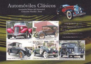 Peru 2007 Cars Souvenir Sheet photo
