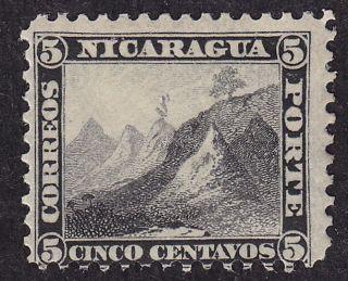 Nicaragua Scott 5 Stamp - Hinged - Classic 1869 Key Stamp - photo
