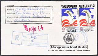 Guatemala 1977 Registered Cover From Zacatepequez (ws137) photo