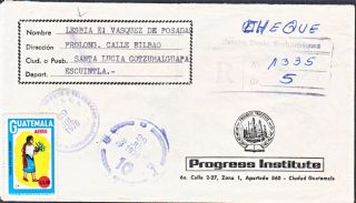 Guatemala 1976 Registered Cover From Suchitepequez (ws140) photo