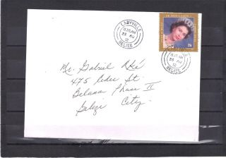 Belize - Cover With The 25c Queen Elizabeth Stamp Cancelled In Ladyville photo