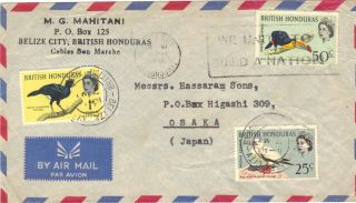 Belize - Cover Addressed To Japan With The 1962 Bird Issue. photo