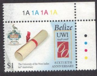 Belize - - 60th Ann.  Of The University Of The West Indies photo