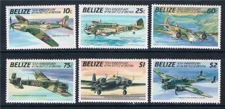 Belize 1990 Battle Of Britain Sg 1086/91 photo