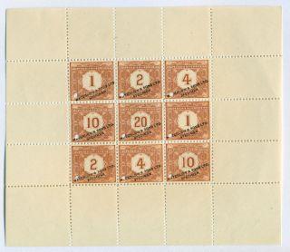 Specimen Prof Block Uruguay Tasa 1902 Waterlow & Sons Ltd. photo
