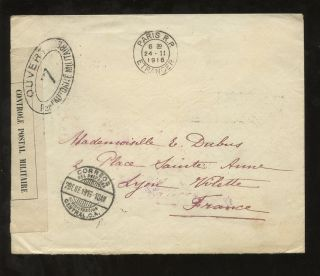 El Salvador 1916 Censored Cover To France. . .  1915 Surcharges Franking photo
