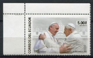Ecuador 2013 Pope Francis Benedict Holy Fathers photo