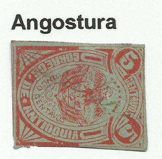 Colombia - Antioquia.  1888.  Red On Green.