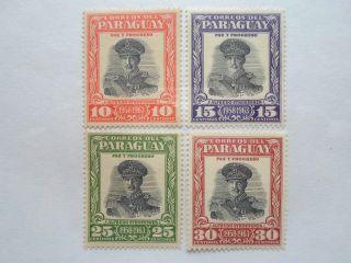 Paraguay 1958 Scott ' S 537 - 540 President Alfredo Stroessner - Og photo