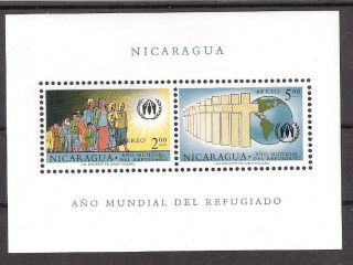 Nicaragua 1960 Yr Of Refugees S/s (sc C453a) photo