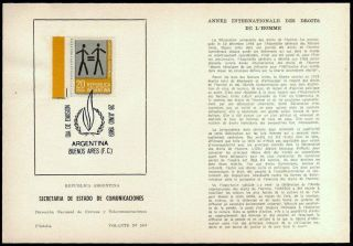 Argentina Universal Declaration Of Human Rights Issue French English Leaflet photo