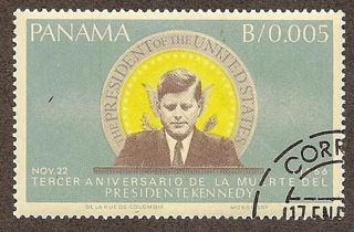 Panama Scott 473,  John F.  Kennedy 3rd Death Anniv,  Cto,  Fg,  Nh,  1966 photo