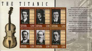 Guyana 2013 Titanic Orchestra 6v M/s Sinking Centenary Boats Ships Iceberg photo
