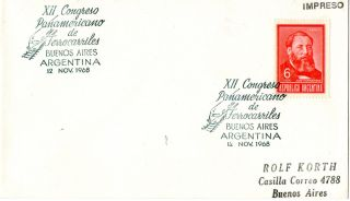 1968 Argentina 12th Pan America Railway Congress First Day Cover Shs photo