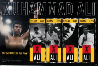 Guyana 2013 Muhammad Ali 4v M/s Greatest All Time Boxing photo