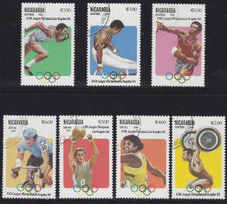 Nicaragua 23rd Olympic Games La 84 Sc 1201 - 7 Pre - Canceled 1983 photo