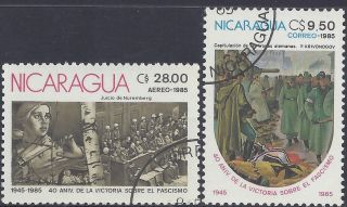 Nicaragua End Of Wwii Sc 1460 - 1 Pre - Canceled 1985 photo