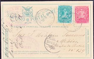 Mex 1895 Pc U.  P.  U.  With 2c Mulita Uprated W/one Cent Chiuhuahua - Mexico (ps265) photo