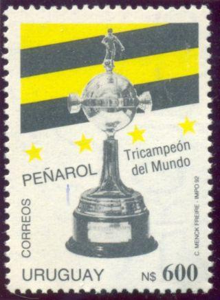 Uruguai,  1992,  Peñarol,  Soccer/football Ss+ 1 Stamp, photo