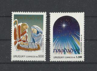 666. .  Uruguay 1992 Christmas photo