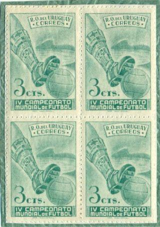 Uruguay 1951 Block To 4 - Championships Football Brasil 1950 Soccer 3 Cent. photo