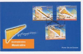 Peru 2007 Fdc Peruvian Music,  Instrument Quena,  Zampoña,  Antara photo
