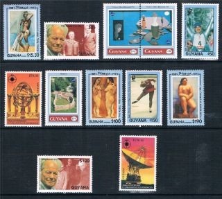 Guyana 1993 Anniversaries & Events 12v Sg 3616/27 photo