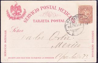 Mex 1898 Pc Servicio Interior With 3c Mulita Local (ps269) photo