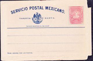 Mex 1900 Tarjeta Carta With 2c Mulita (ps271) photo
