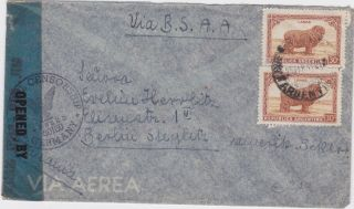 Argentina - 1947 Post Ww 2 Airmail U.  S.  Berlin Zone,  Germany Censored Cover photo