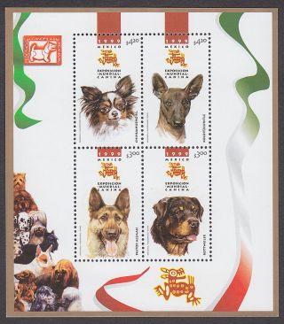 Mexico 2149 World Dog Show Souvenir Sheet 1999 Nh photo
