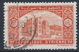 Syria 1934 Sg273 0p.  25 Vermilion Establishment Of Republic A 019 photo