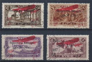 Syria 1926 Sg208/211 War Refugees Fund Surcharged Air Overprint A 019 photo
