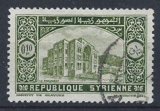 Syria 1934 Sg271 0p.  10 Olive Green Establishment Of Republic A 019 photo