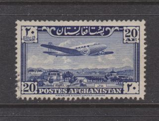 Afghanistan Airmail C10 Plane Over Palace,  Vf Stamp photo