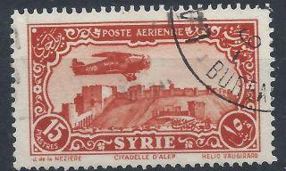 Syria 1931 Sg267 15p Orange Vermilion Blue Air A 019 photo
