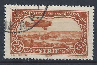 Syria 1931 Sg268 25p Brown Orange Blue Air A 019 photo