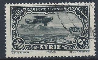 Syria 1931 Sg269 50p Black Blue Air A 019 photo