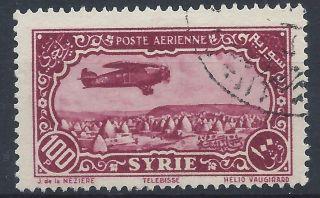 Syria 1931 Sg270 100p Magenta Air A 019 photo