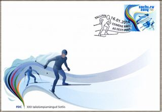 First Day Cover (fdc) Of Estonia 2014 - Xxii Winter Olympic Games In Sochi/ Сочи photo